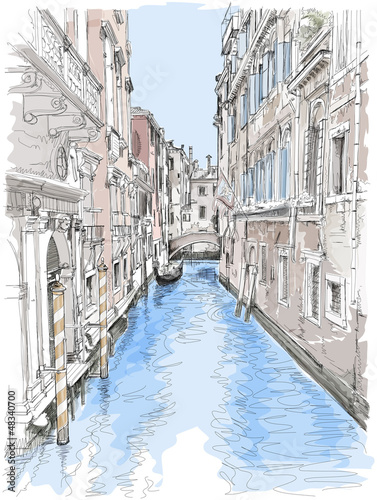 Venice - water canal, old buildings
