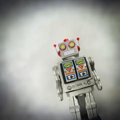 vintage tin robot