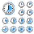 Uhr-Timer blau