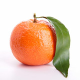 clementine isolated on white