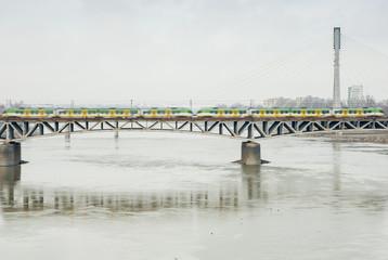 Swietokrzyski Bridge, Warsaw, Poland.