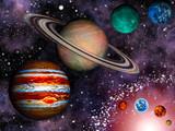 Fototapety 3D Solar System Wallpaper