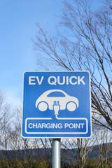 電気自動車 スタンド 看板