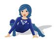 Supergirl Vektor in Hocke