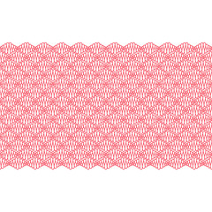 Seamless border with red curly lines