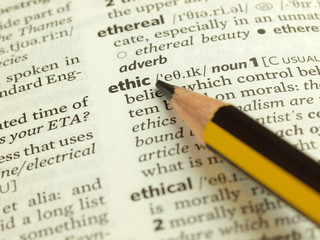 Ethic definition in English dictionary.