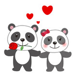 illustration of a pair of panda