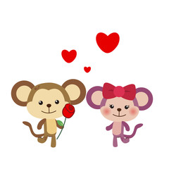 illustration of a pair of monkey