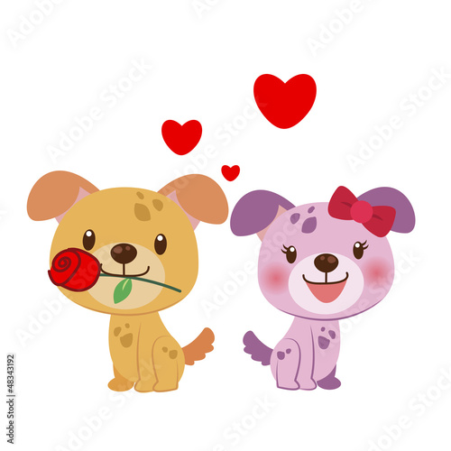 illustration of a pair of dog