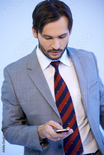 Businessman making a mobile phone call
