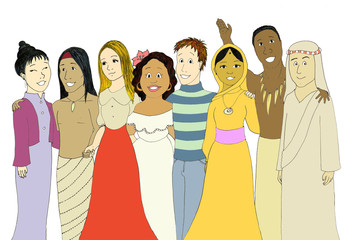 Teens from very different cultures & nationalities