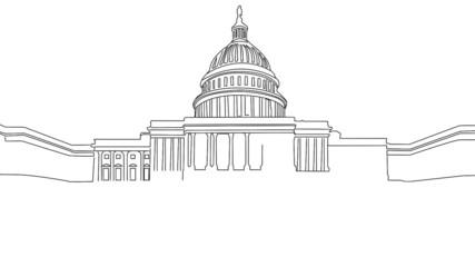The White House handdrawn design