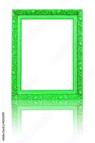 green wooden photo frame