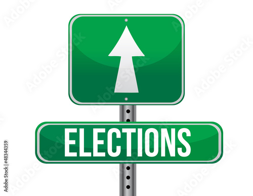 elections road sign