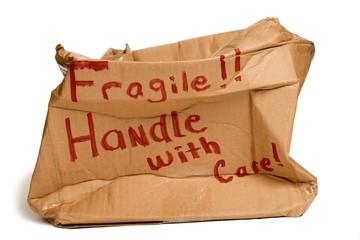 Fragile Brown Box Crushed XXXL