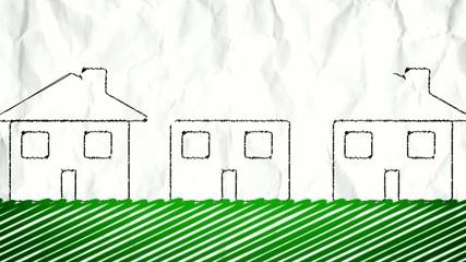 Types of real estates - cartoon