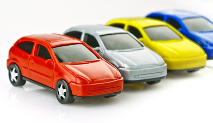 toy cars made ​​of plastic