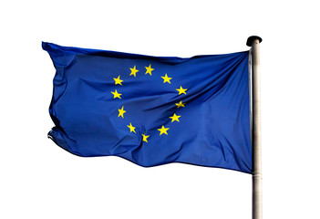 Flag of  European Union on white background