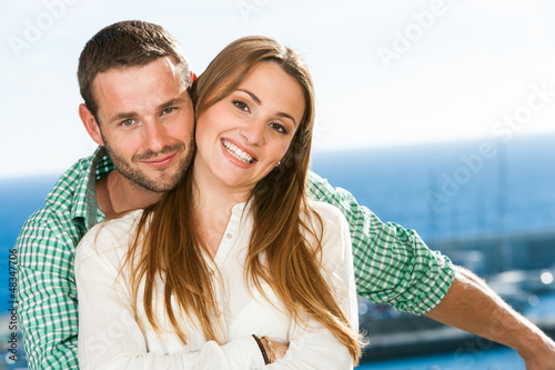 Portrait of attractive young couple.