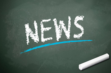 Kreidetafel mit News