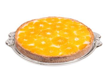 Torte mit Orangenscheiben