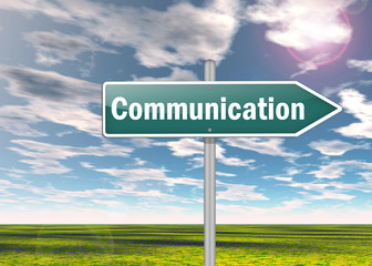 "Signpost ""Communication"""