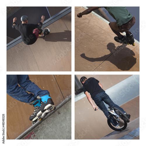 Skate, roller, sport, urbain, glisse, vélo, extrême, roues