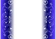 Frise coeur et diamants fond bleu - Saint Valentin
