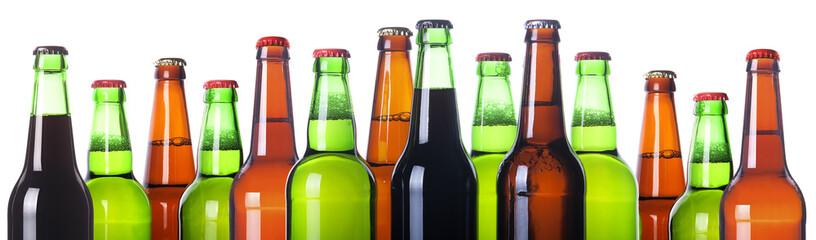 Frosty bottles of beer