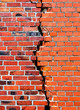 Background brick wall with crack