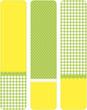 gelb grüne banner kariert und gepunktet