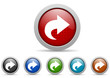 next vector icon set