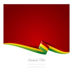 Abstract color background Bolivian flag vector