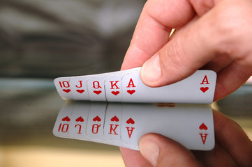 Showing playing cards