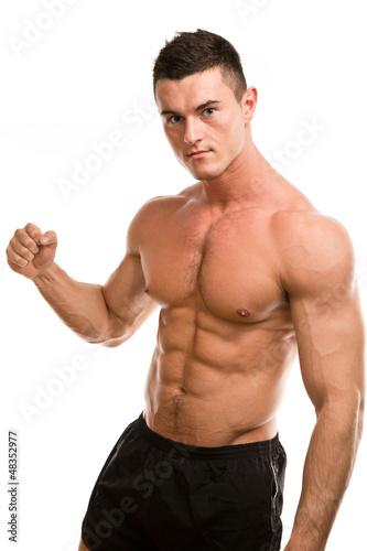 fist muscular man