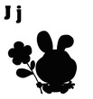 Silhouetted JackRabbit With Letters J