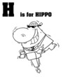 H Is For Hippo Text