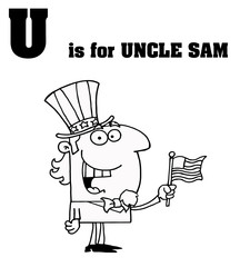 U Is For Uncle Sam Text