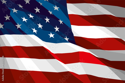 The national flag of USA