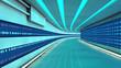 Tunel futurista y datos
