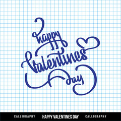 'happy valentine's day' hand lettering