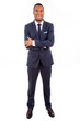 Full length portrait of a handsome African American business man