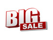 big sale red white banner - letters and block