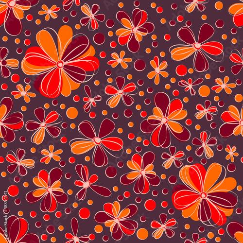 retro seamless flowers
