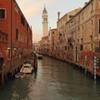 pictorial venetian canal at dusk, Venice