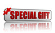 special gift banner with ribbon