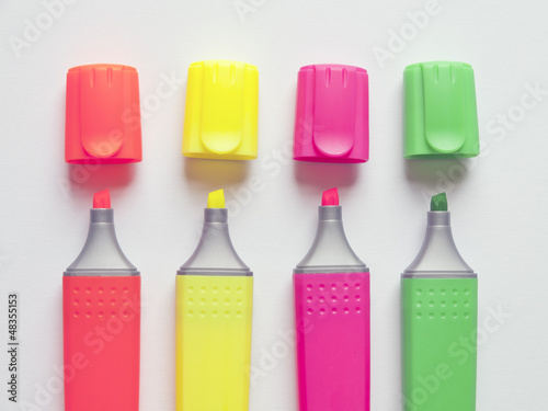 multi-colored markers