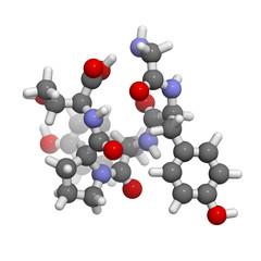 Gluten exorphin A5 molecule, chemical structure.