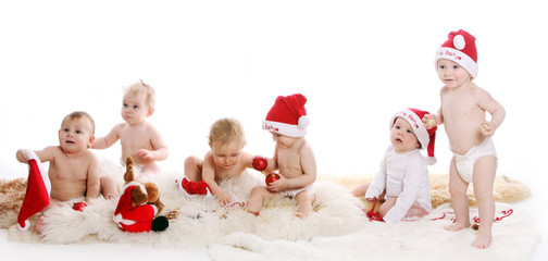 Beautiful babies on Christmas