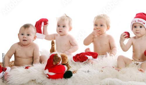 Beautiful babies on Christmas